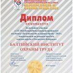 Диплом участника БИОТ 2016