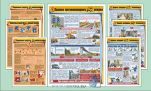 Подборка плакатов по пожарной безопасности - комплект плакатов из 7 листов