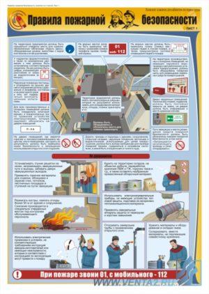 Правила пожарной безопасности лист 1