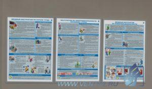 Комплект обязательных инструктажей для офиса - комплект плакатов из 3 листов
